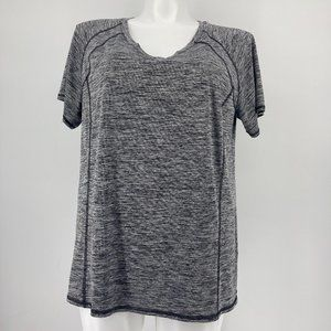 Livi Active Top Short Sleeve Solid Gray Space Dye